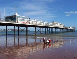 Paignton, beach, sea front